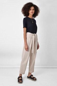 Ro&Zo Natural Tie Waist Denim Trousers