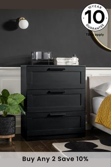 Dark Graphite Flynn 3 Drawer Chest