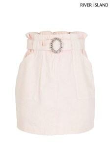 River Island Pink Light Paperbag Skirt