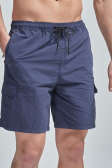 Navy Utility Swim Shorts