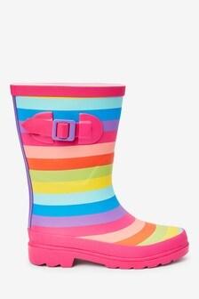 Rainbow Buckle Wellies (Older)