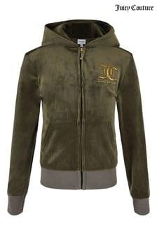 Juicy Couture Velour Zip Through Top