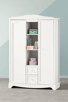 White Amelia Triple Wardrobe