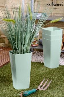 Set of 4 Wham Studio 16cm Tall Square Plastic Planters