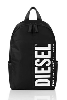 Boys Black Logo Backpack