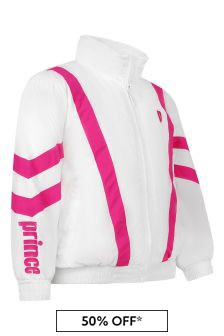 Kids White Baseline Track Jacket