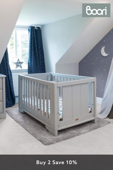Boori Eton Expandable Grey Cot Bed