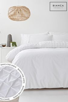 Bianca White Origami 200 Thread Count Duvet Cover and Pillowcase Set