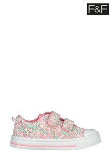 F&F Floral Twin Velcro Shoes