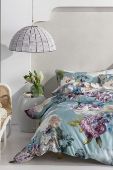 Linen House White Lena Floral Duvet Cover and Pillowcase Set
