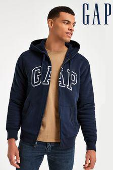 Gap Arch Logo Full Zip Sherpa Hoody