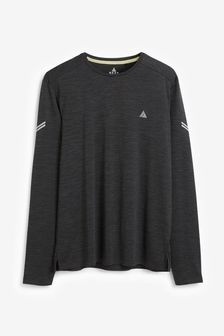 Charcoal Grey Inject Training Long Sleeve Tee Next Active Gym Tops & T-Shirts