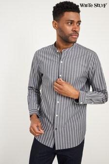 White Stuff Grey Grandad Stripe Shirt