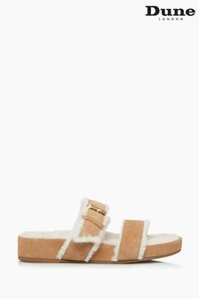 Dune London Sand Waverly Double Strap Slippers