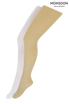 Monsoon Sparkle Nylon Tights 2 Pack