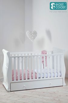 White Alaska Cot Bed By East Coast