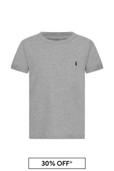 Boys Grey Crew Neck Top