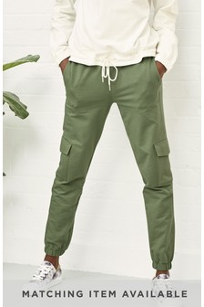 Khaki Pocket Detail Joggers