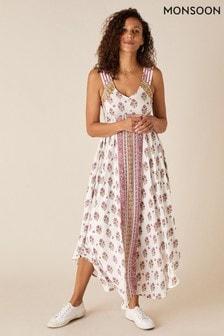 Monsoon Natural Heritage Print Midi Dress