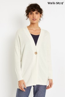 White Stuff White Bettany Longline Cardigan