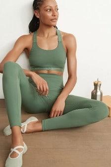 Khaki High Waisted Full Length Sculpting Leggings
