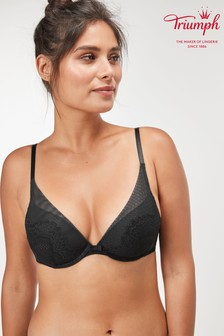 Triumph® Black Darling Spotlight Wired Half Cup Push Up Bra