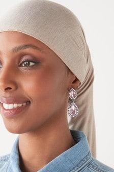 Blush Crystal Drop Earrings