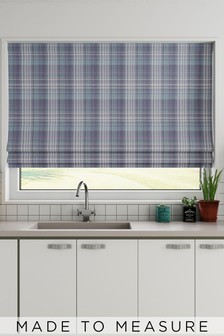 Hadley Dob Check Mauve Purple Made To Measure Roman Blind