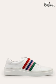Boden Cream Isabel Trainers