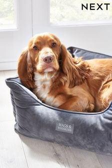 Charcoal Velvet Pet Bed