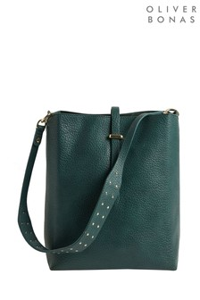 Oliver Bonas Gianna Studded Bucket Tote Bag