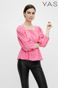Y.A.S Organic Cotton Pink Poplin Katti Blouse