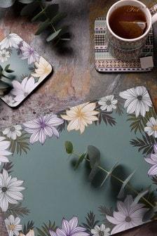 Set of 4 Pimpernel Atrium Floral Large Placemats Placemats