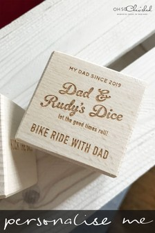 Personalised Fun Wooden Dad Dice by Oh So Cherished