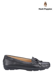 Hush Puppies Black Maggie Slip-On Toggle Shoes