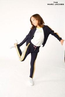 The Marc Jacobs Navy Stripe Trim Joggers