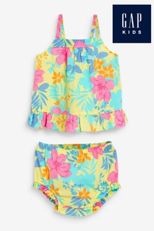 Gap Baby Two Piece Floral Tiered Dress Set