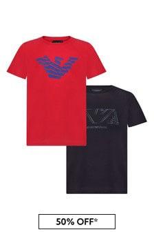 Emporio Armani Boys Navy T-Shirt Set