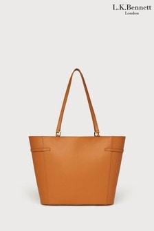 L.K.Bennett Liberty Tan Tote Bag