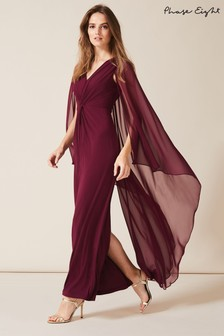 Phase Eight Red Edna Cape Maxi Dress
