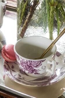 Set of 4 Kingsley Tea Cup & Saucers