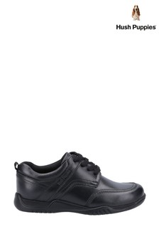 Hush Puppies Black Harvey Junior School Shoes