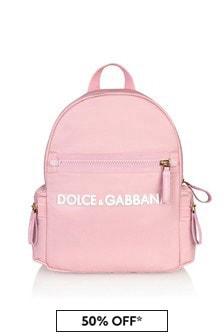Dolce & Gabbana Kids Pink Cotton Backpack