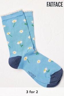 FatFace Blue Daisy Socks