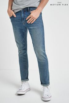 Vintage Wash Skinny Fit Motion Flex Stretch Jeans