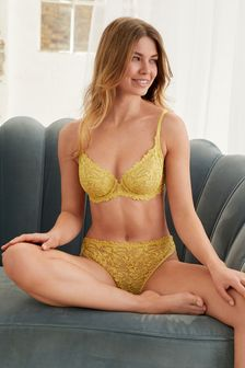 Green Comfort Lace Full Cup Bra