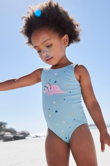 Blue Dinosaur Swimsuit (3mths-7yrs)