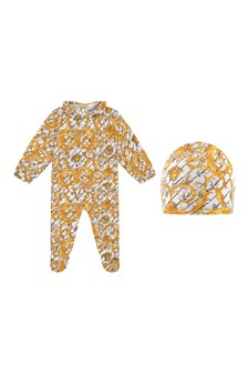 Gold Baroque Babygrow Gift Set