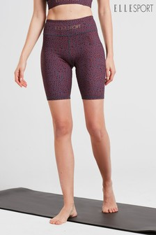 ELLE Sport Yoga Printed Cycling Shorts