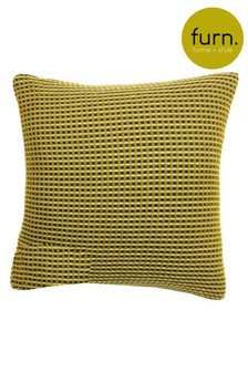 Rowan Two Tone Waffle Cushion by Furn